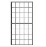 "40-Pane Masonry Window 50""w x 100""h (6) HO Scale Tichy Trains"