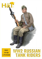 WWII Russian Tank Riders (44) 1/72 Hat