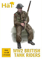 WWII British Tank Riders (44) 1/72 Hat