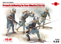 French Infantry in Gas Masks 1916 (4) 1/35 ICM Models