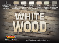 White Wood Diorama Acrylic Set (6 22ml Bottles) Lifecolor