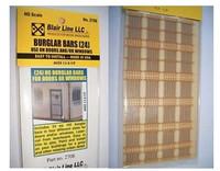 Door/Window Burglar Bars (24) HO Scale Blair Line