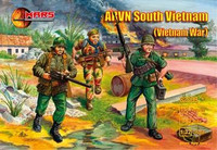Vietnam War AVRN South Vietnamese Army (15) 1/32 Mars Figures
