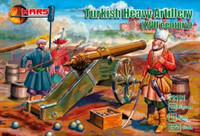 XVII Century Turkish Heavy Artillery (18 w/3 guns) 1/72 Mars Figures