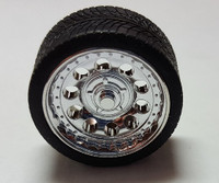 "Magnums 19"" Chrome Rims w/Tires (4) 1/24-1/25 Pegasus Hobbies"