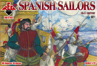 Spanish Sailors XVI-XVII Century (40) 1/72 Red Box Figures