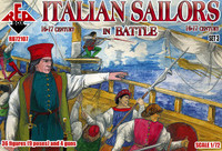 Italian Sailors in Battle XVI-XVII Century (36 w/4 Guns) 1/72 Red Box Figures