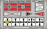 German U-Boat Flags Steel (Painted) 1/72 Eduard