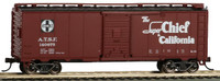 40' Santa Fe Map Boxcar Super Chief #140675 HO Scale Bachmann