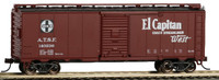 40' Santa Fe Map Boxcar El Captain #140236 HO Scale Bachmann