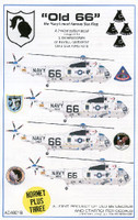 SH-3 USN Sea King Old 66 for RVL & HSG 1/48 Starfighter Decals