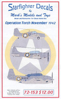 F4F-4, TBF-1, SBD-3, SOC Seagull, L-4A Operation Torch Nov 1942 1/72 Starfighter Decals