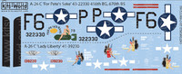 A-26C For Pete's Sake, Lady Liberty 1/72 Warbird Decals