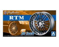 "Trafficstar RTM 20"" Tire & Wheel Set (4) 1/24 Aoshima"