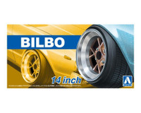 "Bilbo 14"" Tire & Wheel Set (4) 1/24 Aoshima"