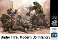 Under Fire Modern US Infantry (4) 1/35 Masterbox