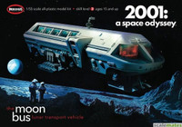 "2001 Space Odyssey: Moon Bus (Approx. 10"" Long) 1/55 Moebius"