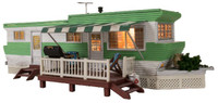 Built-N-Ready Grillin' & Chillin' Trailer LED Lighted O Scale Woodland Scenics