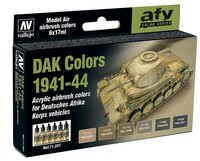 17ml Bottle DAK Vehicle Colors 1941-1944 Model Air Paint Set (6 Colors) Vallejo Paint
