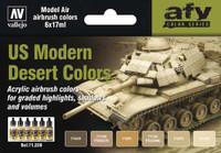 17ml Bottle US Modern Desert Colors Model Air Paint Set (6 Colors) Vallejo Paint