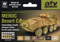 17ml Bottle US Army Vehicles MERDC Desert Colors Model Air Paint Set (6 Colors) Vallejo Paint