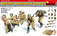 WWII Soviet Artillery Crew (5) w/Ammo Boxes & Weapons (Special Edition) 1/35 Miniart Models