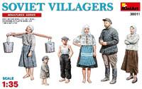 Soviet Villagers (6) 1/35 Miniart Models