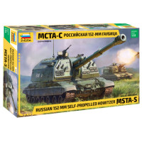 Russian MSTA-S 152mm Self-Propelled Howitzer Gun Tank 1/35 Zvezda