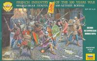 French Infantry 100 Year War XIV-XV AD (43) 1/72 Zvezda