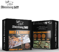 Rust & Exhaust Pigment Set (4 Colors) 20ml Bottles Abteilung 502