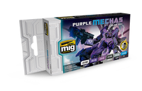 Purple Mechas Acrylic Color Set (6 colors) AMMO of Mig Jimenez