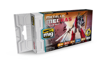 Metallic Mechas Acrylic Color Set (6 colors) AMMO of Mig Jimenez