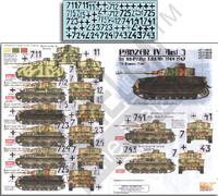 Panzer IV Ausf J 1st SSPzRgt LSSAh 1944-45 1/35 Echelon Decals