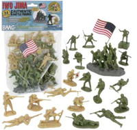 Iwo Jima Figure Playset (Olive/Tan) (32pcs) 54mm BMC Toys