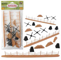 WWII Battlefield Access: Fence, Hedgehogs, Sandbags, etc. (Total 21pcs) 54mm BMC Toys