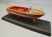 "1960 Chris Craft 18' Continental Boat Laser Cut Kit 1/24 (9"") Dumas"
