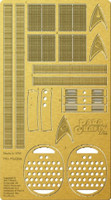 Star Trek The Original Series: USS Enterprise Engine Grills Photo-Etch Set for PLL 1/350 Paragrafix