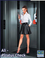 Ali Modern Woman wearing Short Skirt Holding Cell Phone in Hand 1/24 Masterbox