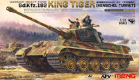 SdKfz 182 King Tiger German Heavy Tank (Henschel Turret) 1/35 Meng Models