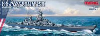 USS Missouri BB-63 USN Battleship 1/700 Meng Models