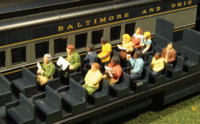 Scenescapes Waist-Up Passengers Seated (12) HO Bachmann