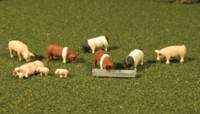 Scenescapes Pigs (9) HO Bachmann