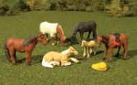 Scenescapes Horses (6) HO Bachmann