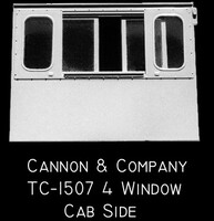 Thinwall 4-Window Sides for Dash 2 (2) HO Scale Cannon & Company