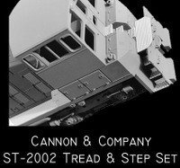 Safety Tread & Step Set for Athearn SW1000 & SW1500 (Photo-Etch) HO Scale Cannon & Company