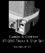 Safety Tread & Step Set for Walthers GP15-1 (Photo-Etch) HO Scale Cannon & Company