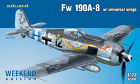 Fw 190A-8 Fighter w/Universal Wings (Weekend Edition) 1/72 Eduard