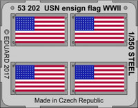 WWII USN Ensign Flag Steel (Painted) 1/350Eduard