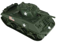 Sherman Tank (Olive Green) 54mm BMC Playsets