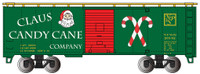 40' Boxcar Christmas Claus Candy Cane Company HO Scale Bachmann Trains